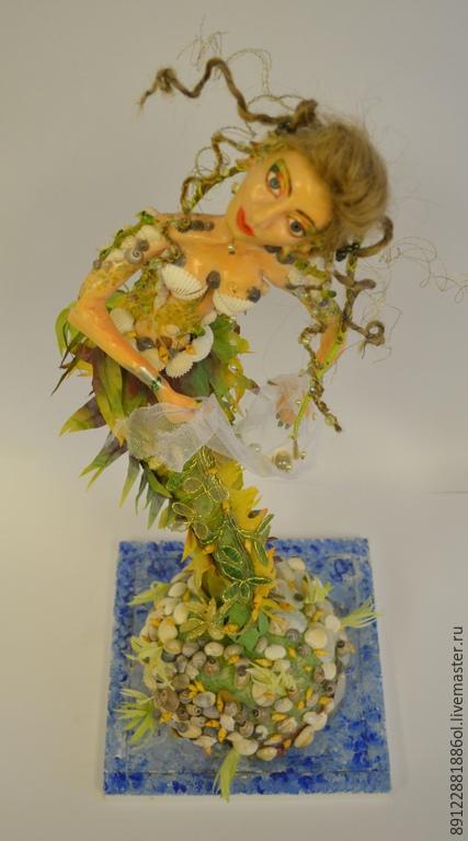 Коллекционные куклы ручной работы. Ярмарка Мастеров - ручная работа. Купить РУСАЛКА. Handmade. Авторская ручная работа, проволока