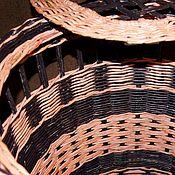Корзины ручной работы. Ярмарка Мастеров - ручная работа Корзина для белья. Розово- коричневая. Плетеная.. Handmade.