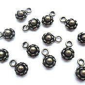 handmade. Livemaster - original item Flower pendant, metal, bronze, accessories for jewelry. Handmade.