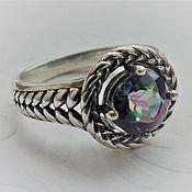 Украшения handmade. Livemaster - original item Ring Irida - rhinestone mystic silver. Handmade.