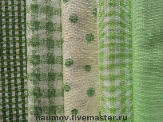 Шитье ручной работы. Ярмарка Мастеров - ручная работа. Купить Американский хлопок зеленый. Handmade. Американский хлопок, ткань