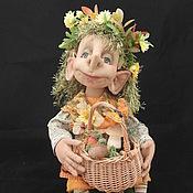 Куклы и игрушки ручной работы. Ярмарка Мастеров - ручная работа Лесовушка с корзинкой. Handmade.