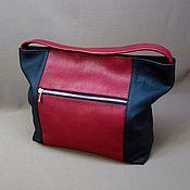 Сумки и аксессуары handmade. Livemaster - original item Bag soft. Cranberry and black Italian floter.. Handmade.
