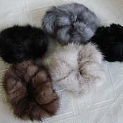Подарки к праздникам ручной работы. Ярмарка Мастеров - ручная работа Резинка для волос из норки и других видов меха. Handmade.
