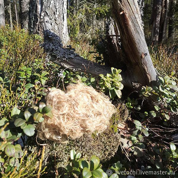 Nettle wool 7 g, Fiber, Opochka,  Фото №1