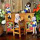 """Мини-комоды ручной работы. Заказать Стол со стулом """"Полевые цветы"""". Ольга (olga-pchelka). Ярмарка Мастеров."""