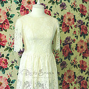 Свадебный салон ручной работы. Ярмарка Мастеров - ручная работа Кружевное свадебное платье. Handmade.