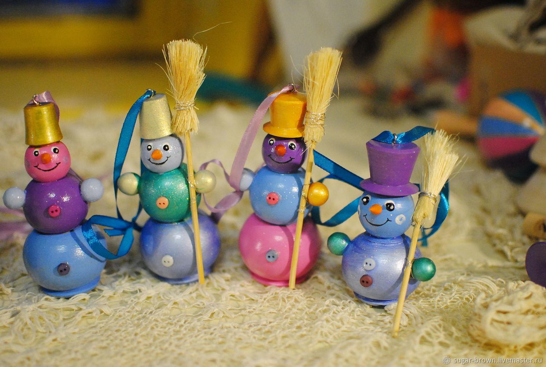 """Ёлочная игрушка """"Снеговик с метлой"""", Елочные игрушки, Санкт-Петербург,  Фото №1"""