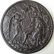 Винтаж handmade. Livemaster - original item Antique panels of Bas-relief Biblical Story as the Cast iron Kasli. Handmade.