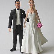 """Свадебный салон ручной работы. Ярмарка Мастеров - ручная работа фигурки на свадебный торт """"жених и невеста""""-3 (статуэтки на торт). Handmade."""