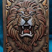 "Канцелярские товары handmade. Livemaster - original item Leather notebook ""INVINCIBLE LION"". Handmade."