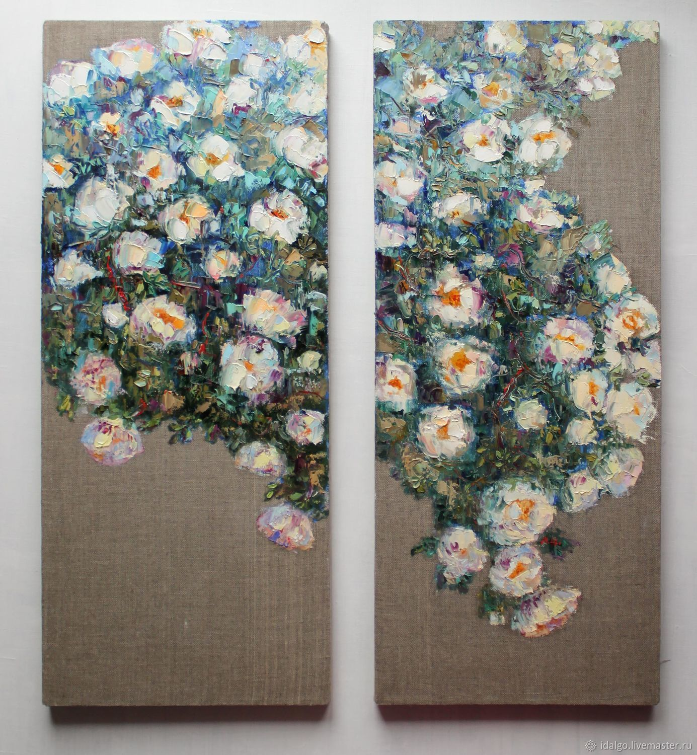 Oil painting 'Summer Color', diptych, height 60 cm, Pictures, Nizhny Novgorod,  Фото №1