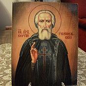 Картины и панно handmade. Livemaster - original item St. Sergius of Radonezh -hand-written icon. Handmade.