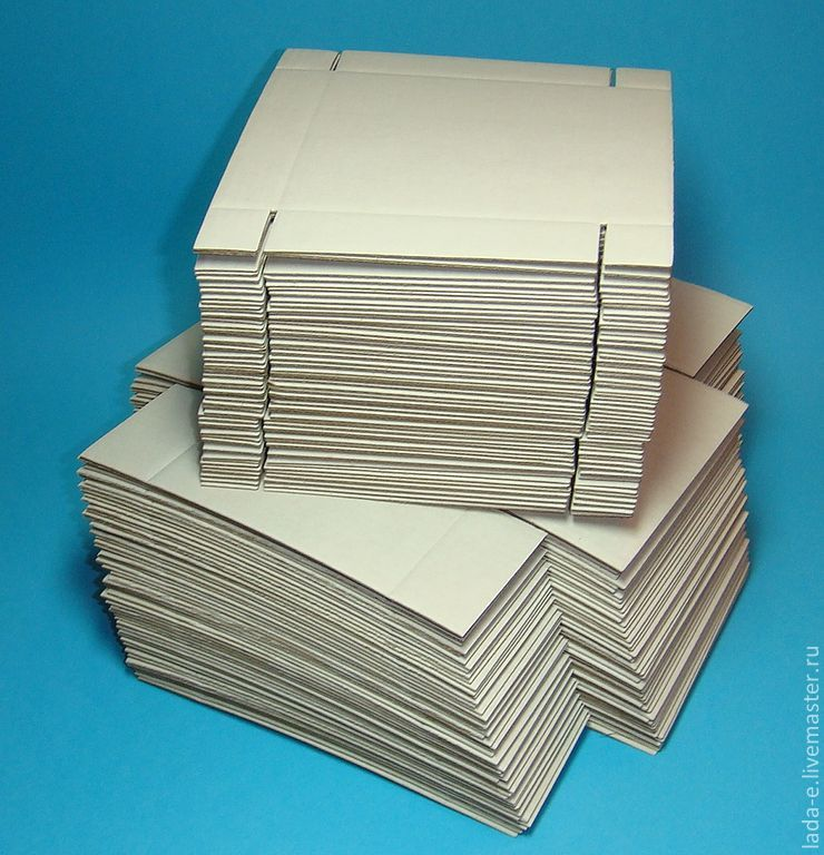 Box BLANK (price per pack of 50 pieces) color white, Box1, Moscow,  Фото №1