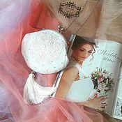 Сумки ручной работы. Ярмарка Мастеров - ручная работа Свадебная сумочка на фермуаре с вышивкой. Handmade.