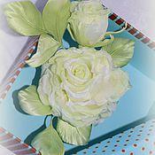Украшения handmade. Livemaster - original item Lime rose silk. Handmade.