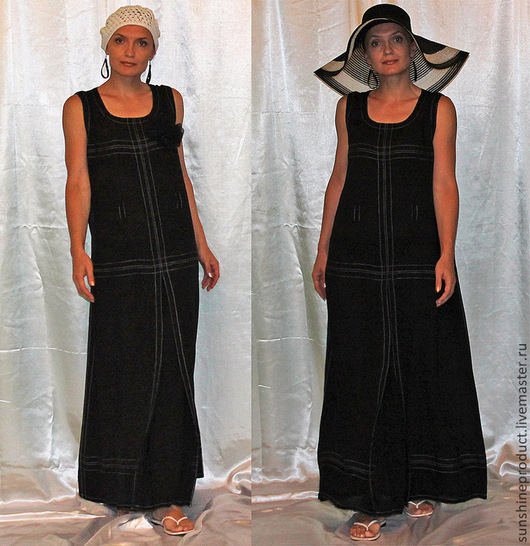 """Платья ручной работы. Ярмарка Мастеров - ручная работа. Купить Платье """"Amjad"""". Handmade. Черный, отпуск, жара, платье"""