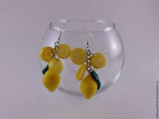 """Серьги ручной работы. Ярмарка Мастеров - ручная работа. Купить серьги """"Лимончики"""". Handmade. Лимонный, хендмейд, украшения"""