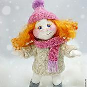 Куклы и игрушки ручной работы. Ярмарка Мастеров - ручная работа Рыжий зимний ангелочек и Снежок. Handmade.
