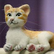 Куклы и игрушки handmade. Livemaster - original item felted wool toy. Kitty Monica.. Handmade.