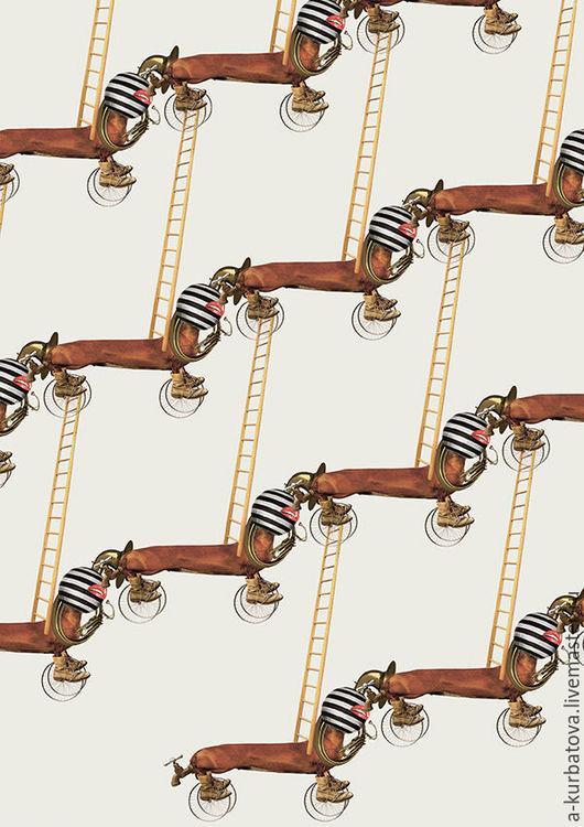 Открытки на все случаи жизни ручной работы. Ярмарка Мастеров - ручная работа. Купить Открытка из серии ЦИРК. Handmade. Комбинированный, такса