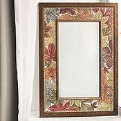 Для дома и интерьера handmade. Livemaster - original item Mirror painting Mirror Chestnut. Handmade.