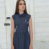 Одежда ручной работы. Ярмарка Мастеров - ручная работа Платье джинсовое. Handmade.