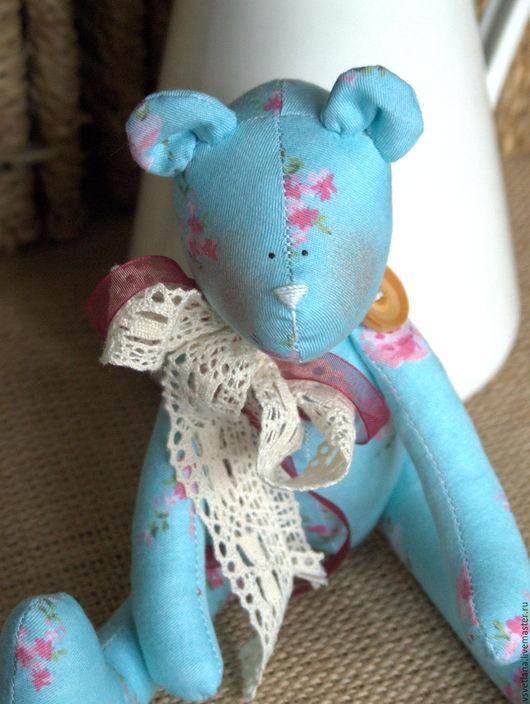 Куклы Тильды ручной работы. Ярмарка Мастеров - ручная работа. Купить -15% Шебби мишка. Handmade. Голубой, подарок подруге
