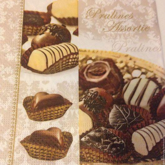 Салфетка для декупажа - Шоколад...Шоколадные вкусности Декупажная радость