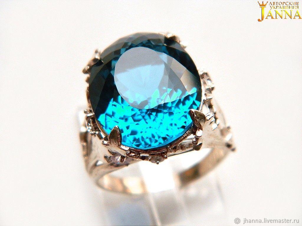 Topaz 'Tina' ring with LONDON BLUE Topaz 18K, Rings, Volgograd,  Фото №1