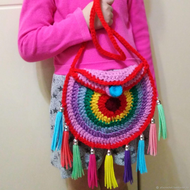 d47657198f23 Alla Crochet handmade bags · Вязание ручной работы. Мастер класс, детская  сумочка крючком. Alla Crochet handmade bags.