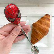 """Посуда ручной работы. Ярмарка Мастеров - ручная работа Ложка """"Человек-паук. Возвращение домой"""". Handmade."""