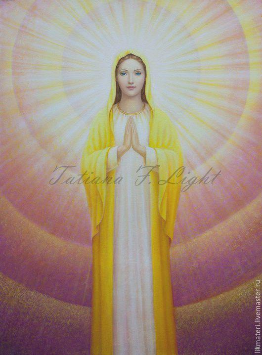 """Люди, ручной работы. Ярмарка Мастеров - ручная работа. Купить Картина """"Свет Девы Марии"""". Handmade. Картина в подарок"""
