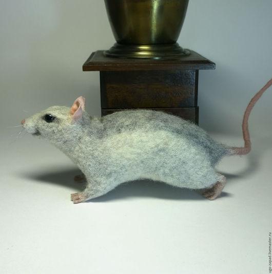 Игрушки животные, ручной работы. Ярмарка Мастеров - ручная работа. Купить Крыска валяная.. Handmade. Крыса, крыса игрушка