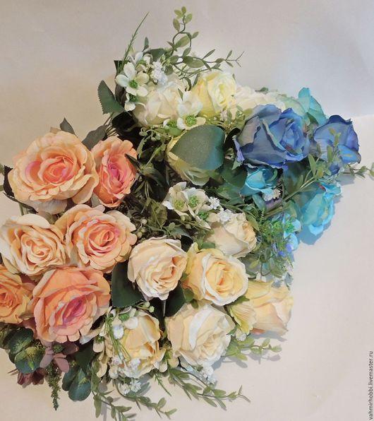 Другие виды рукоделия ручной работы. Ярмарка Мастеров - ручная работа. Купить Букеты роз + мелкоцвет (Е) 45 см. Handmade.