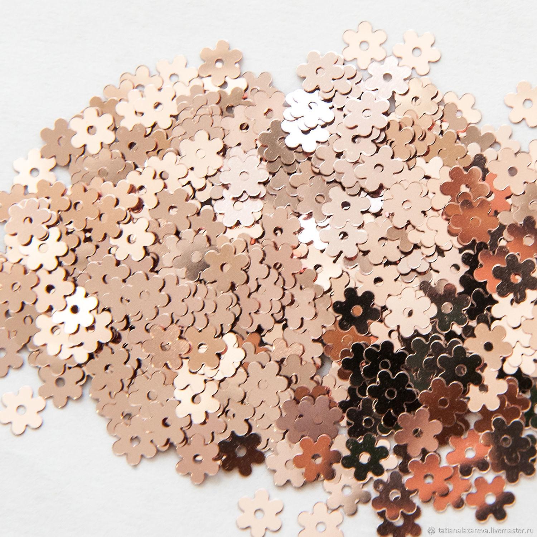 Пайетки итальянские, плоские, 5 мм №3071, Вышивка, Новосибирск, Фото №1