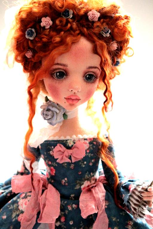 Коллекционные куклы ручной работы. Ярмарка Мастеров - ручная работа. Купить Адель. Handmade. Тёмно-синий, текстиль