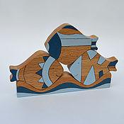 Куклы и игрушки handmade. Livemaster - original item Educational toy wooden Decorative Fish made of beech. Handmade.