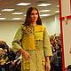 """Пиджаки, жакеты ручной работы. Пальто """"Mosaic in green"""". ElKo (Элла Ковалева). Ярмарка Мастеров. Мозаика, шифон"""