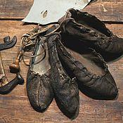Обувь ручной работы. Ярмарка Мастеров - ручная работа Поршни - русская кожаная обувь. Handmade.