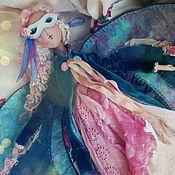 Куклы и игрушки ручной работы. Ярмарка Мастеров - ручная работа Изумрудная бабочка.Кукла.. Handmade.