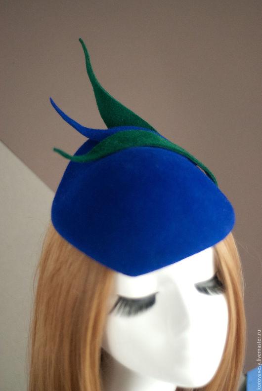 """Шляпы ручной работы. Ярмарка Мастеров - ручная работа. Купить """"Песни моря"""". Handmade. Тёмно-синий, женская шляпка"""