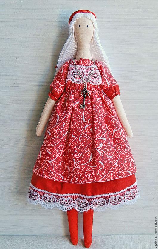 Куклы Тильды ручной работы. Ярмарка Мастеров - ручная работа. Купить кукла Снежана. Handmade. Ярко-красный, кукла интерьерная