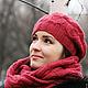 Шапка вязаная, шапки вязаные, шапки зимние, шапки на зиму, шапки женские, шапка с помпоном, шапки вязанные, шарф вязаный, шарф снуд, снуды, снуд вязаный.