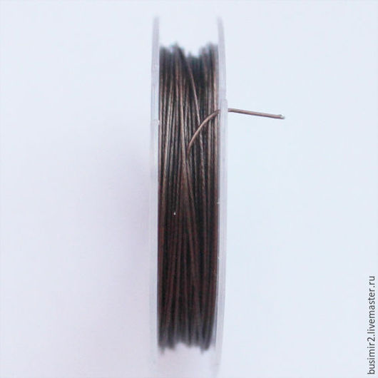 Для украшений ручной работы. Ярмарка Мастеров - ручная работа. Купить Ювелирный тросик ланка струна d0,45 катушка 10м. Handmade.