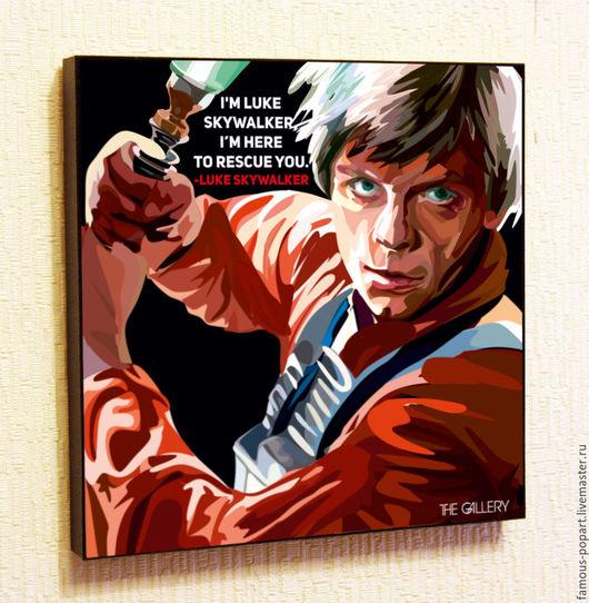Фотокартины ручной работы. Ярмарка Мастеров - ручная работа. Купить Картина Звездные войны Люк Скайуокер. Handmade. Поп-арт