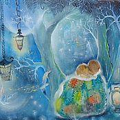 Картины и панно ручной работы. Ярмарка Мастеров - ручная работа Мечтатели Картина сказочная,фантазийная,волшебная.... Handmade.