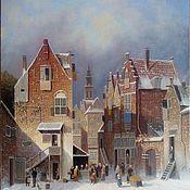 Зима в Голландии. 50х60см+рама