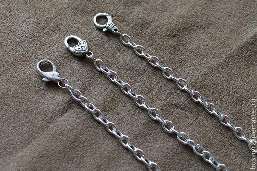 Основа для браслета, цвет - платина. Размер 20 см. Основы и заготовки для создания украшений. Busimir