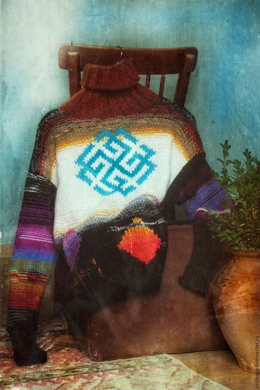 Кофты и свитера ручной работы. Ярмарка Мастеров - ручная работа. Купить весна священная. Handmade. Солнце, вязаный оберег, шерсть